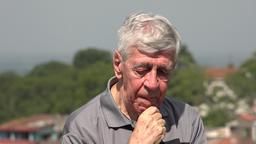 Sad Old Man Or Depressed Senior Footage