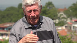Crying Old Man Or Senior Footage