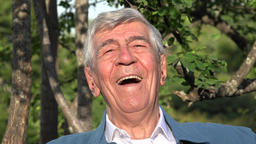 Happy Smiling Elderly Old Man Or Senior Live Action