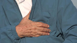 Elderly Man With Chest Pain Or Heart Condition Live Action
