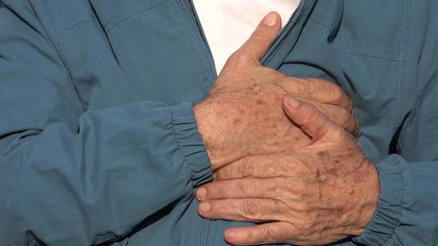 Elderly Man Chest Pains Live Action