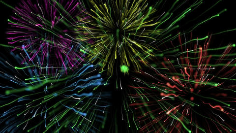 Particle Explosions Many Colors Animation