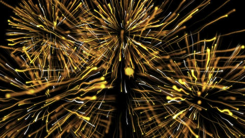Particle Explosions Yellow plus White Animation