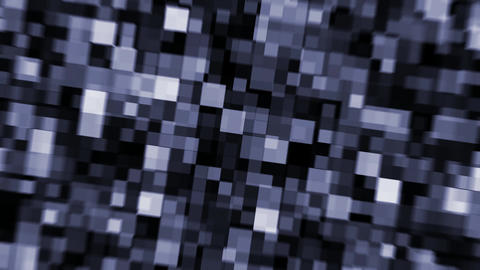cubic pixels with focus distortion Animation