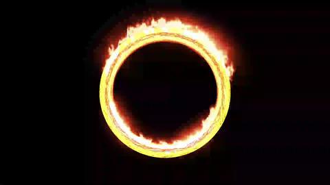 炎の輪テンプレート(無料プラグインSABER必須) After Effectsテンプレート