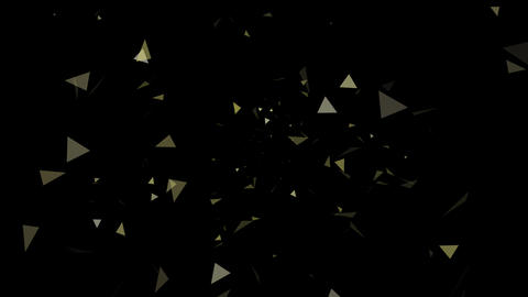 Triangle Effect Yellow After Effects Template