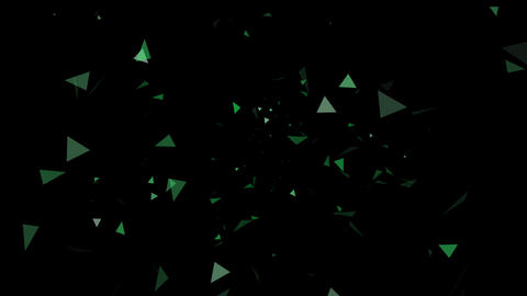 Triangle Effect Green After Effects Template