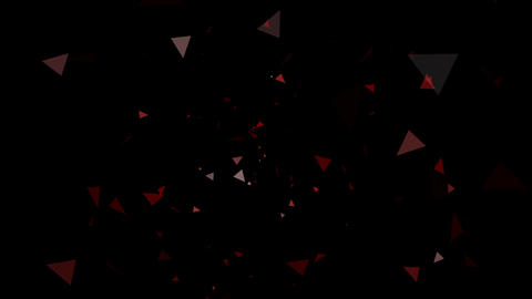 Triangle Effect Red After Effects Template