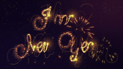 Happy NewYear Stock Video Footage