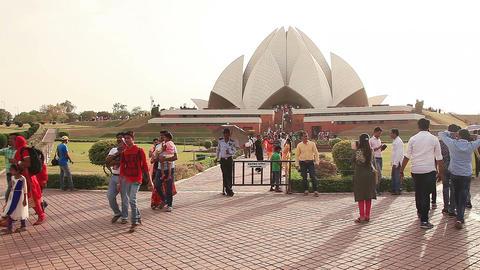 Lotos Temple Delhi Footage