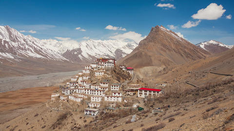 Key Gompa Time Lapse Clouds Polar Filter Animation