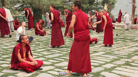 Tsuglagkhang Monks Practice Footage