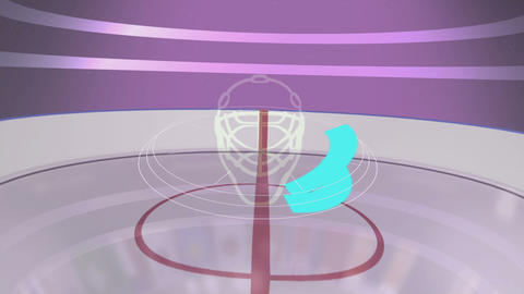 Hockey cup Animation