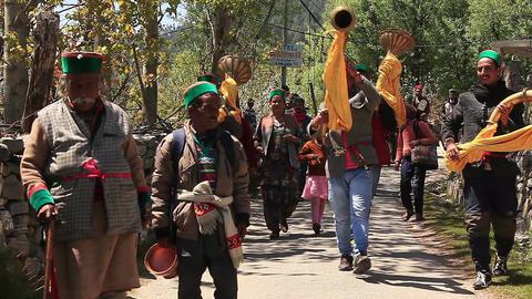 Hindu People Kalpa Footage
