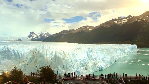 Perito Moreno Glacier and Tourists Footage