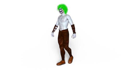 UHD-Clown Walk Animation