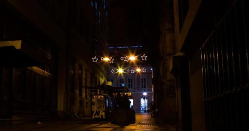 Street Nights Christmas 4K Timelapse. 0