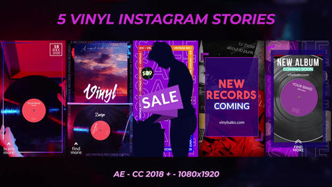 Vinyl Record Stories After Effects Template