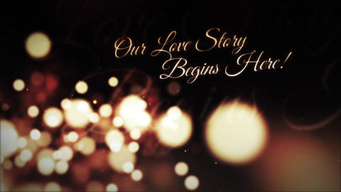 Love Story Romantic Titles Motion Graphics Template