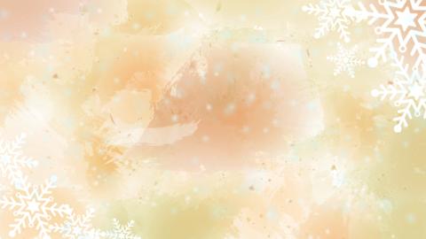 Cute Winter Background Orange Animation