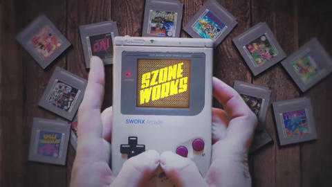 Game Boy Logo Intro After Effects Template