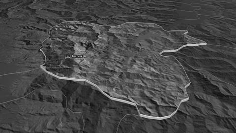 Mavrovo and Rostusa extruded. Macedonia. Stereographic bilevel map Animation