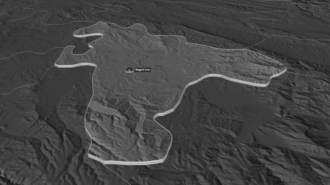 Negotino extruded. Macedonia. Stereographic bilevel map Animation
