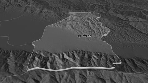 Novo Selo extruded. Macedonia. Stereographic bilevel map Animation