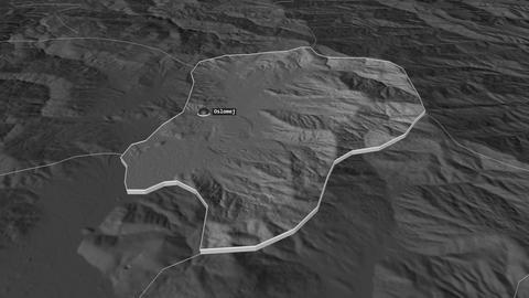 Oslomej extruded. Macedonia. Stereographic bilevel map Animation
