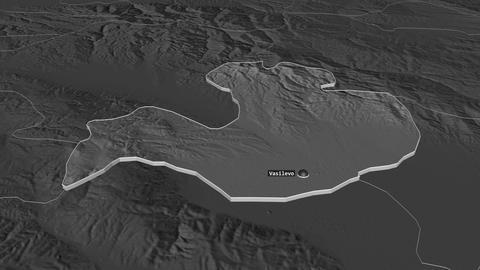 Vasilevo extruded. Macedonia. Stereographic bilevel map Animation