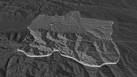 Vinitsa extruded. Macedonia. Stereographic bilevel map Animation