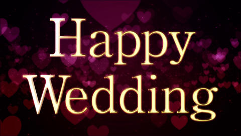 happy wedding message title Animation