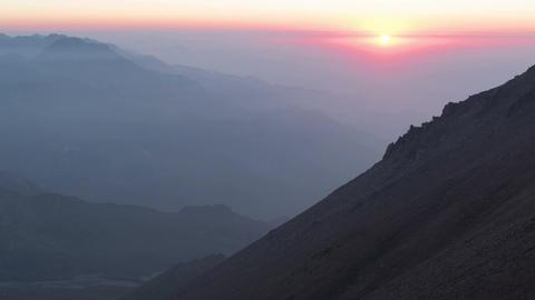 Sunset Kumbelsu Mountains Time Lapse 4k Animation