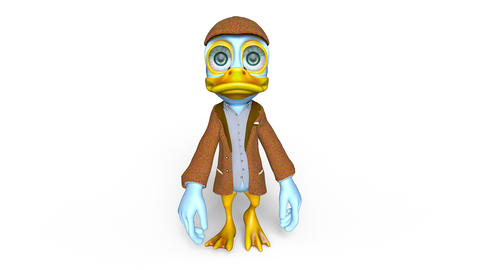 UHD-Duck Walk Animation