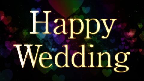 happy wedding message title Animation