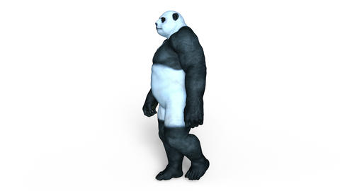 UHD-Monster Panda Walk Animation
