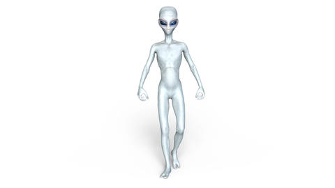 Alien Grey Walk Animation