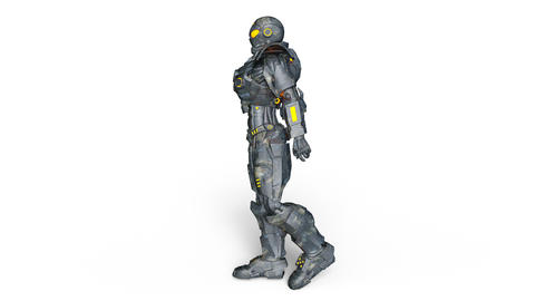 UHD-Robot Walk Animation