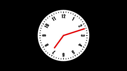 Simple Clock Loop 4K Animation