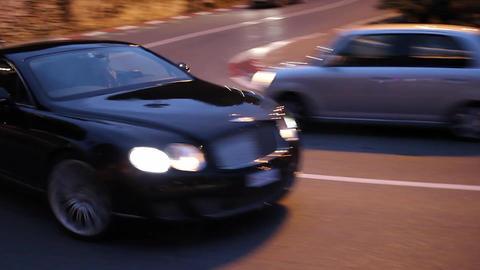 Luxury Black Bentley Continental in Monte-Carlo Monaco Footage