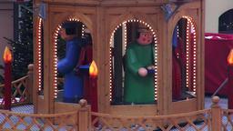 Rotary Christmas pyramid on the Christmas fair Footage