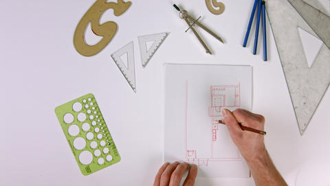 Hand Drawing Architectural Indoor Plans Top Live Action