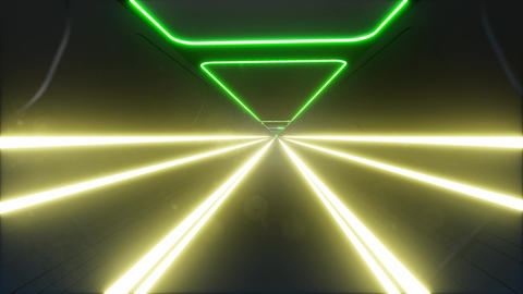 Neon tunnel in abstract style cyber speed Live Action