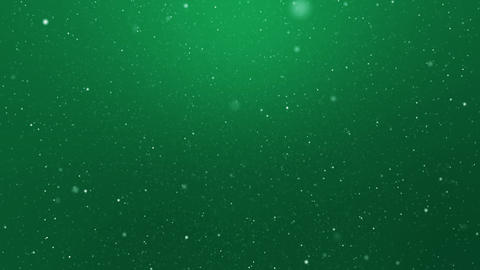 Snowfall Green Background Loop Animation