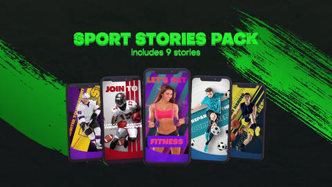 Sport Stories After Effects Template