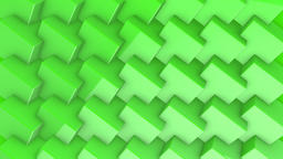 Rotating Green Cubes Background Animación