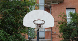 Basketball Court in urban area Footage