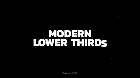 Trendy Lower Thirds After Effects Template