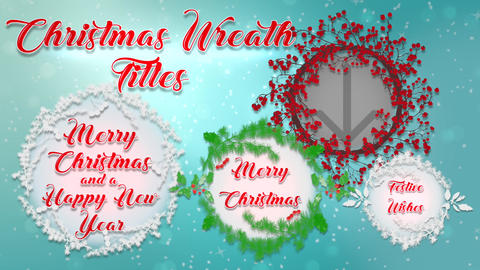 Christmas Wreath Titles Apple Motion Template