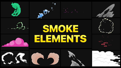 Smoke Elements Pack After Effects Template